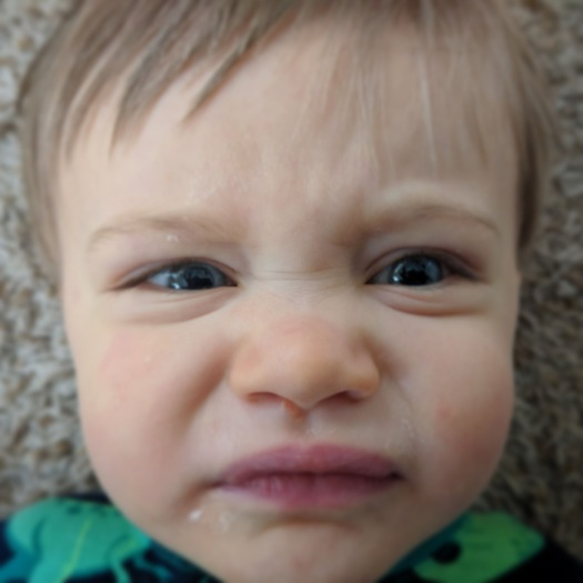 funny angry baby face