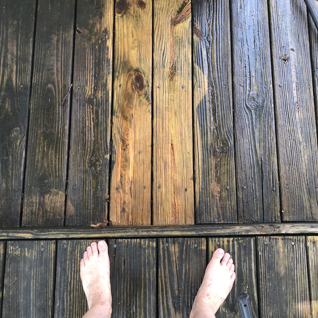 powerwashing before and after